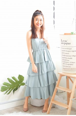 (BACKORDER) Keep Loving Layered Dress in Blue