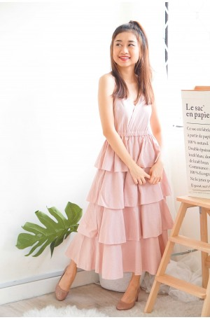 (BACKORDER) Keep Loving Layered Dress in Pink