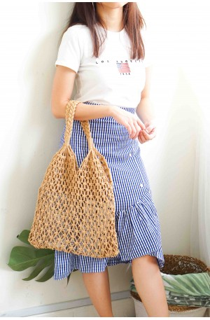 Simplicity Brown Net Bag