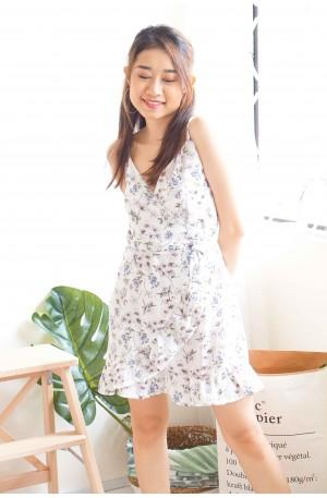 Caught A Kiss White Sleeveless Floral Dress