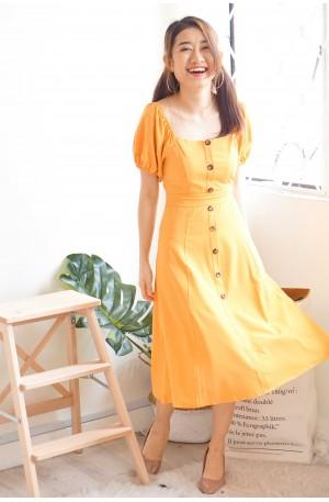 Golden Sunset 2-Way Yellow Dress