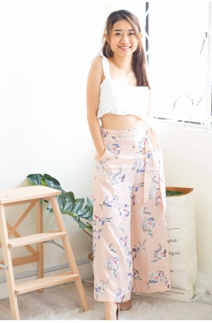Romance Rebloomed Pink Floral Culottes