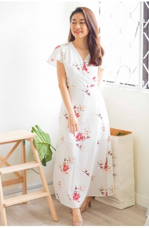 Lone Angel Floral Maxi in White