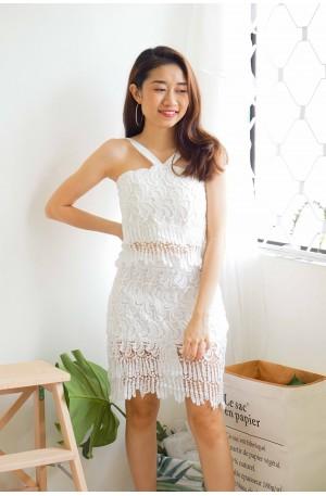Gatsby's Lover 2 Piece Crochet Set in White