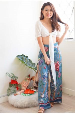 (BACKORDER) Majestic Aura Blue Floral Culottes