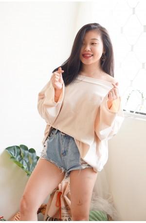 (BACKORDER) Mellow Noon Oversized Sweater in Beige