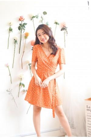 (BACKORDER) Mandarin Oriental Polkadot Self Tied Dress