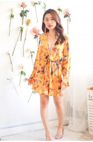 Genuine Sunshine Yellow Floral Jumpsuit