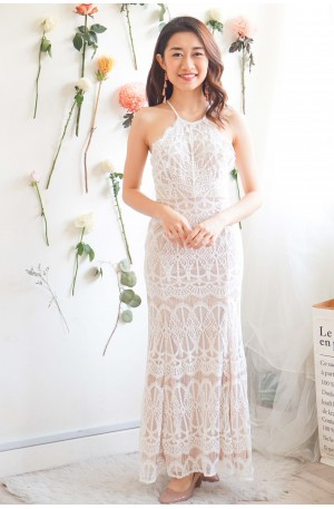 Once Upon A Dream White Lace Maxi Dress