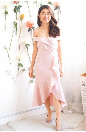 (BACKORDER) Pure Grace Fishtail Dress in Pink