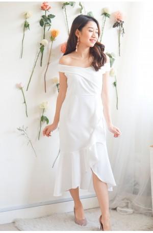Pure Grace Fishtail Dress in White