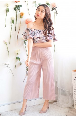 Fond of Kisses Pink Pleated Culottes