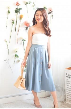 Gentlewoman Midi Skirt in Blue