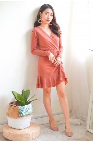 Wearing Diamonds Pink V Neck Dress