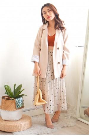 City Girl Beige Oversized Coat