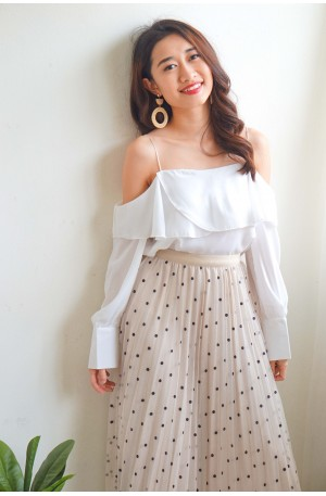Sweet Silence White Off Shoulder Top