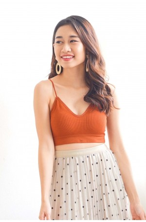 (BACKORDER) Nice For What Crop Top in Brick Red