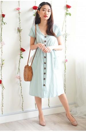 Play By Book Mint Green Button Dress