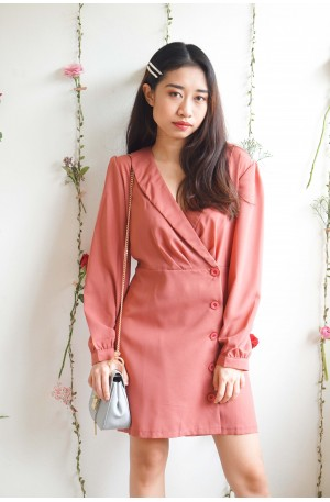 All The Way Up Pink Suit Dress