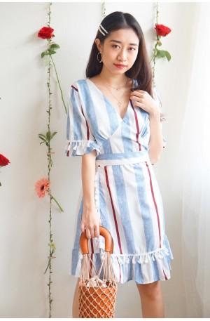 Princess In Disguise Stripes Tassels Dress