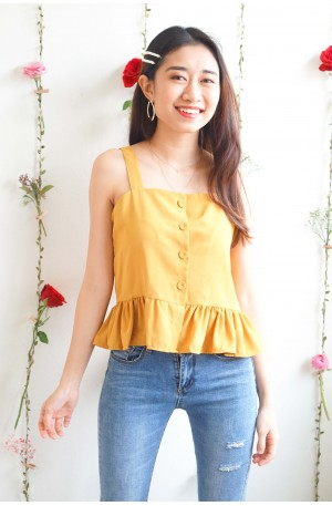 (BACKORDER) Sweet Bliss Frills Top in Yellow