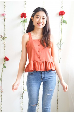 (BACKORDER) Sweet Bliss Frills Top in Coral