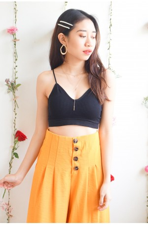 (BACKORDER) Nice For What Crop Top in Black