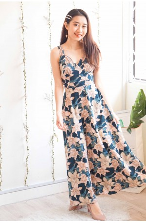Blossom On You Floral Crossback Maxi Dress