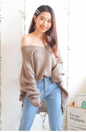 Comfort Zone Khaki Oversized Sweater