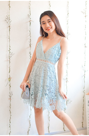 1d1c620731da1 (BACKORDER) Lovers Maybe Light Blue Crochet Dress