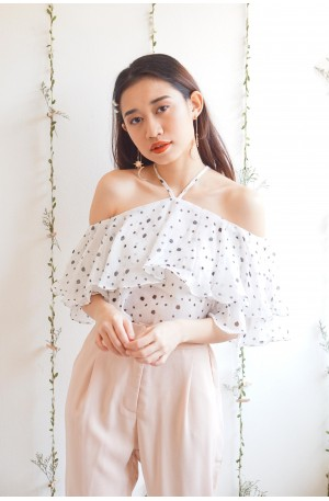 Soft and Sultry White Off Shoulder Top