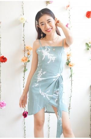 (BACKORDER) Reign or Shine Blue Floral Strapless Dress