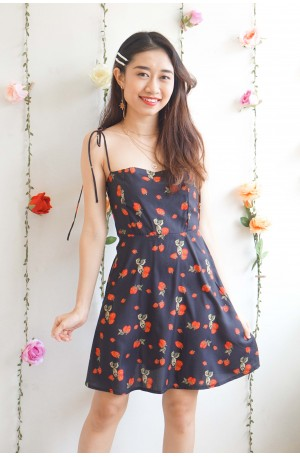 (BACKORDER) Think Bout Berry Self Tied Ribbon Dress