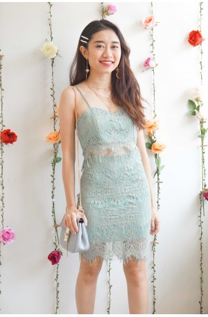 (BACKORDER) Softest Touch Green Lace 2 Set