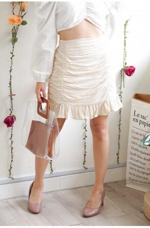 (BACKORDER) Tease Or Miss Beige Bodycon Skirt