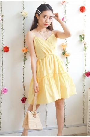 (BACKORDER) A Girl Can Dream Yellow Skater Dress