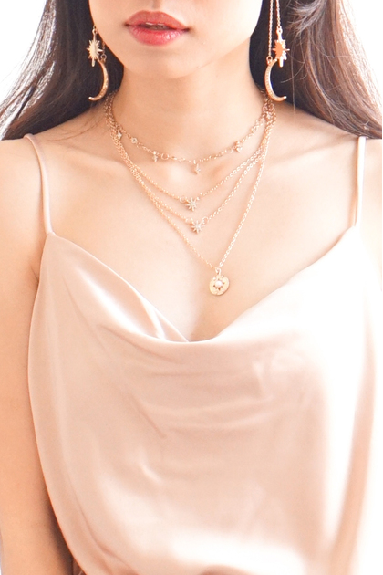 (BACKORDER) Cosmic Stars Layered Necklace