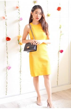 (BACKORDER) Stay Naive Mustard Yellow Halter Dress