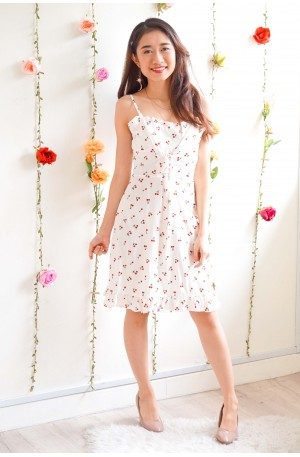 Counting Innocence Cherry Dress in White
