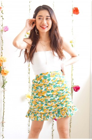 You're My Sunflower Bodycon Skirt