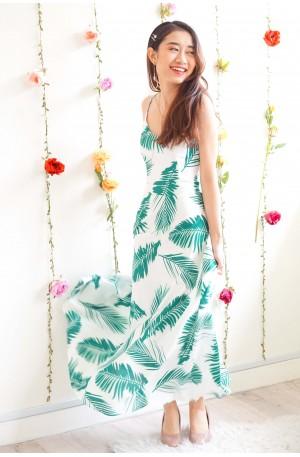 (BACKORDER) Malibu Sunsets White Tropical Crossback Dress