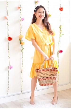 Sun And Fun Yellow Ruffles Dress