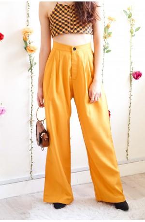 She Don't Yellow Wide Legged Pants
