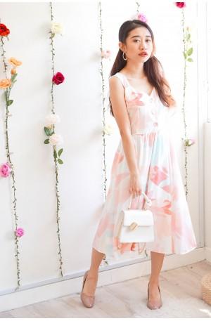 Dreamy Promises Soft Pastel Midi Dress