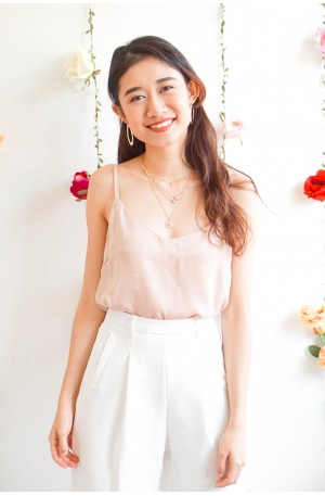 Seamlessly Cute Beige Camisole