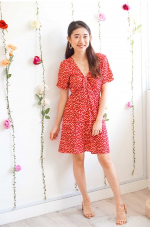 Sweet Trouble Floral Dress in Red
