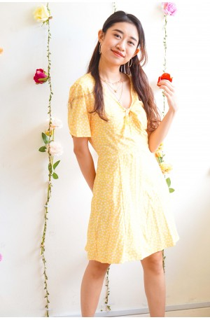 Sweet Trouble Floral Dress in Yellow