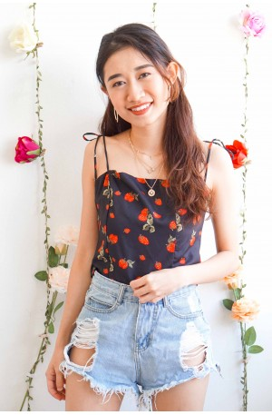 Berry On My Mind Self Tied Camisole