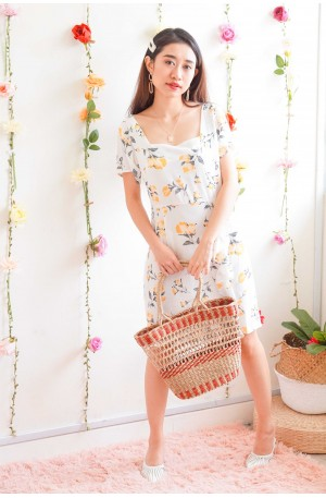 Buttercup Blooms Yellow Floral Dress