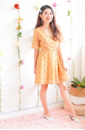 Cover Gal Tulip Dress in Mustard Yellow